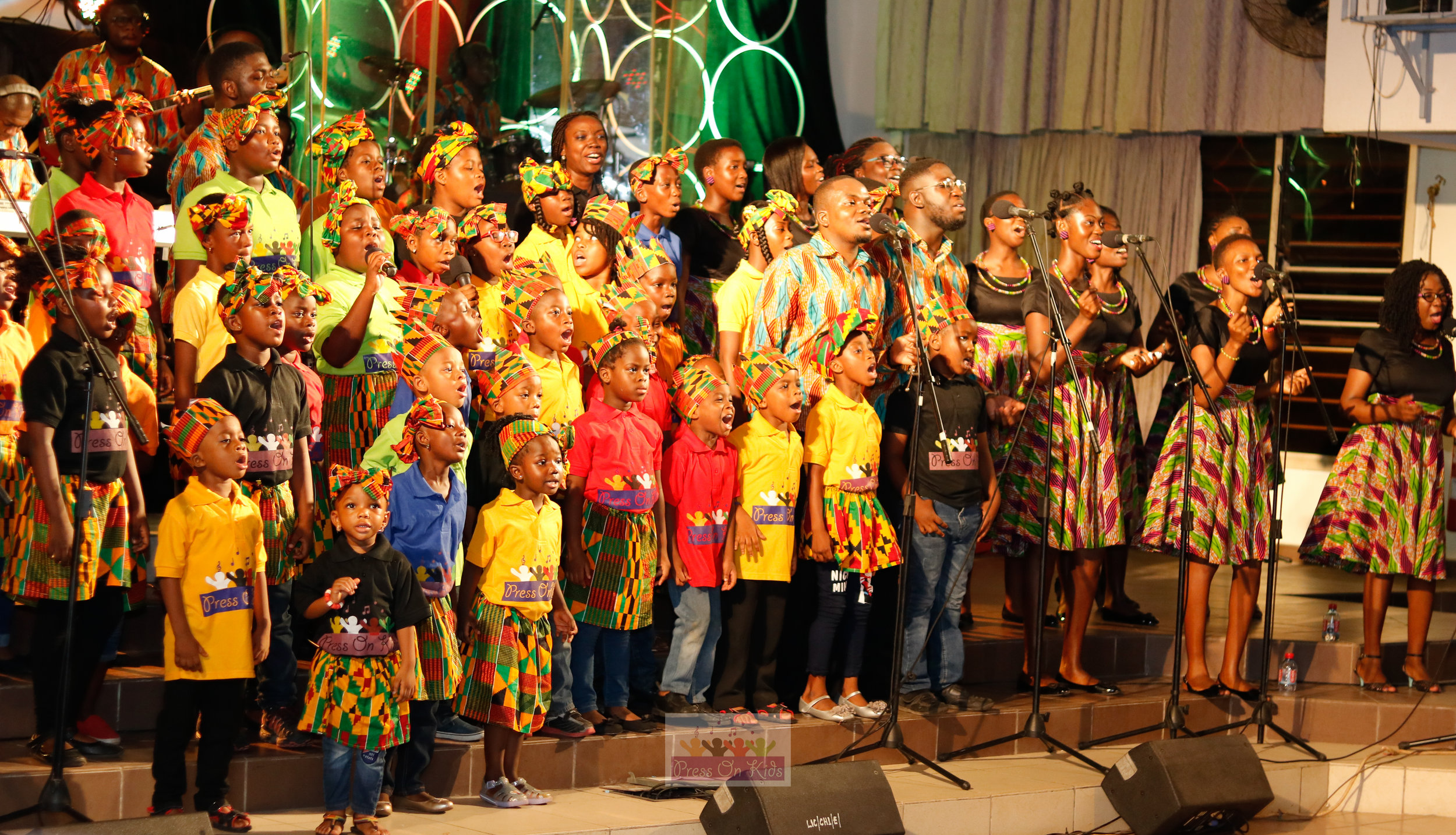Press On Kids singing with the Legon Interdenominational Choir (LIC Choir) at their 2017 musical concert