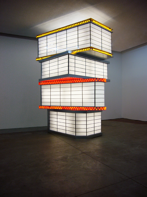 Tower of Movie Marquees  (Jennifer Bolande, 2010). Photo credit: Maegan Hill-Carroll.