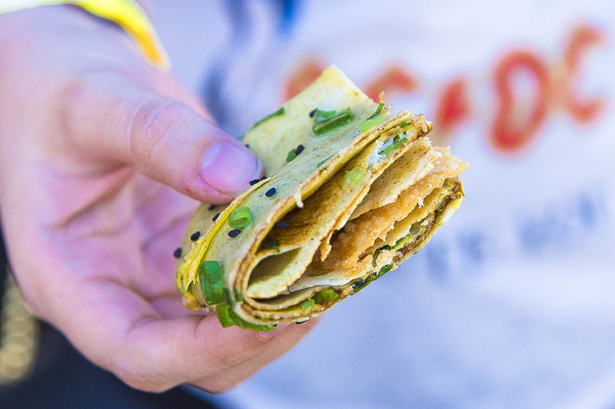 Chinese street crepe from Buddhabing