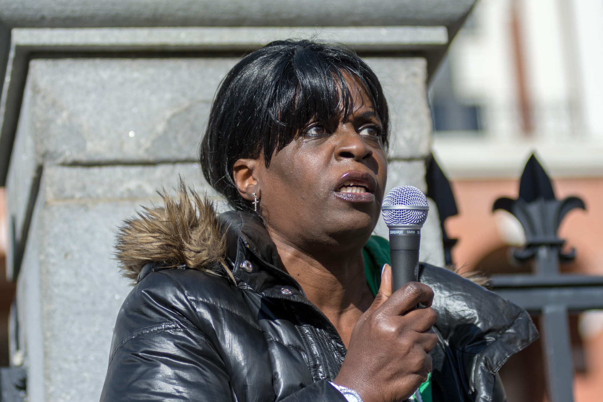 One speaker gave an emotional recounting violence and lack of accountability