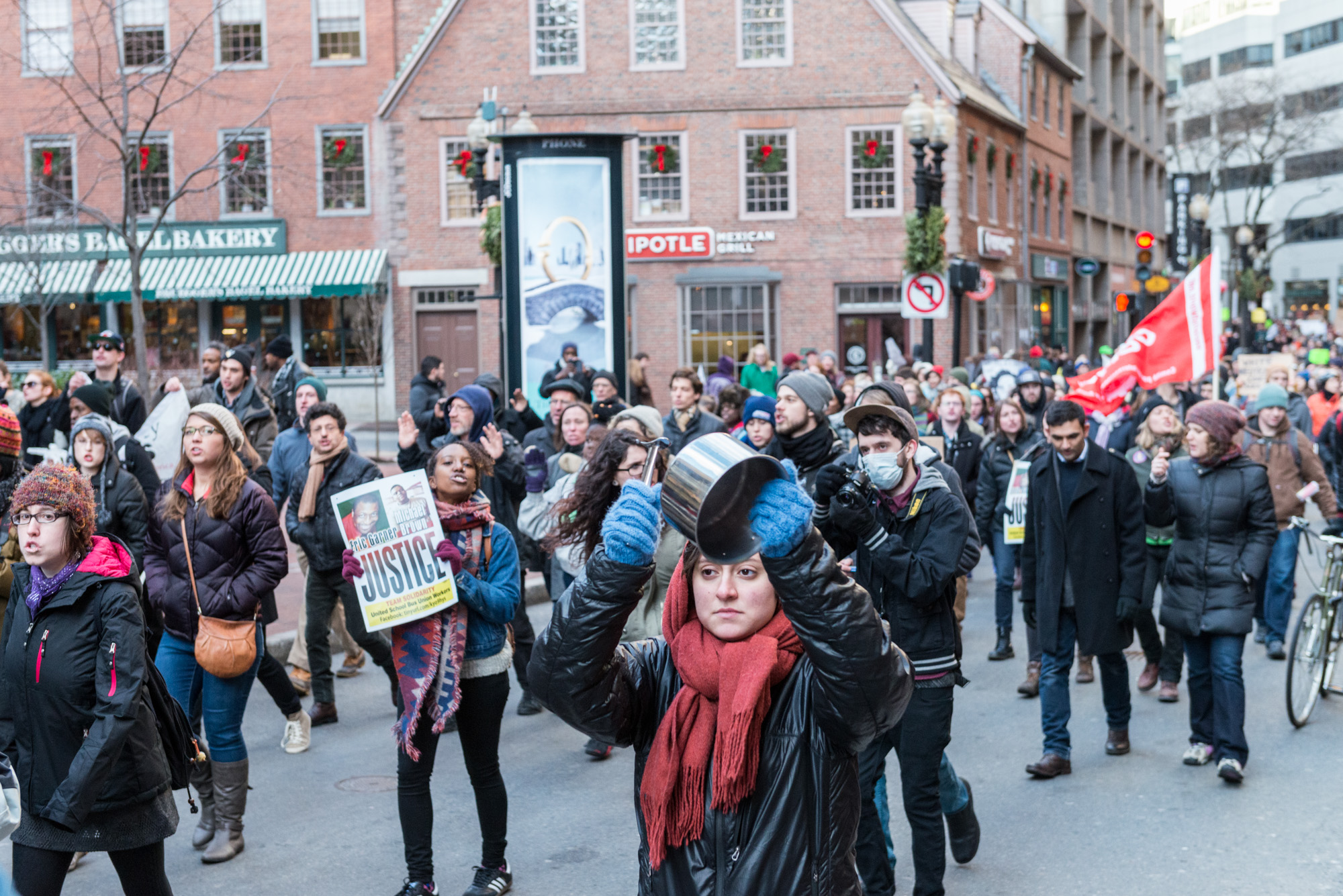 Marching through Downtown Crossing