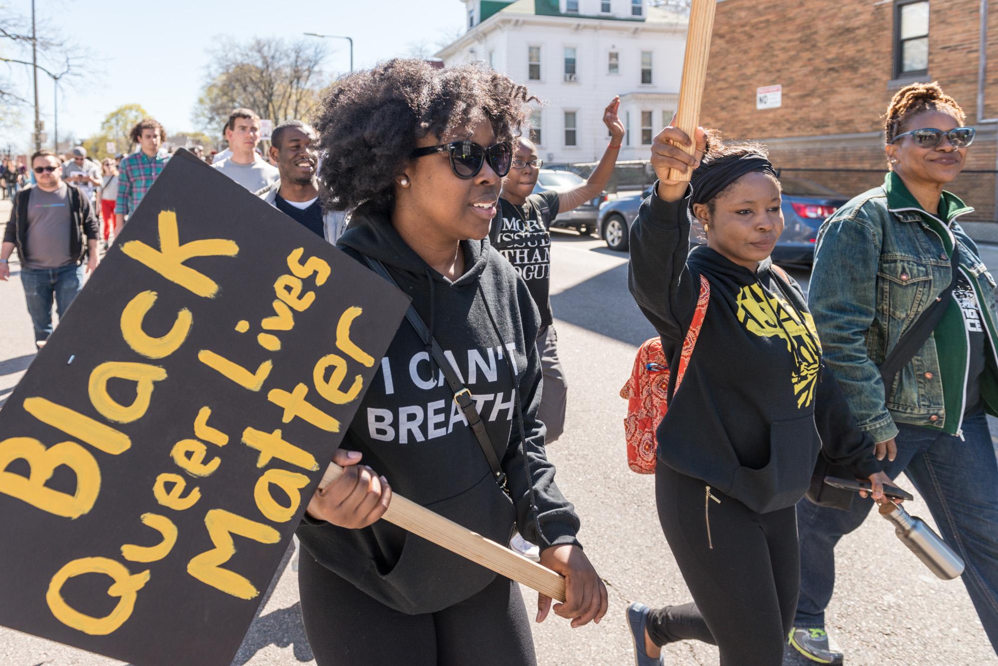 """""""Black Queer Lives Matter"""" sign"""