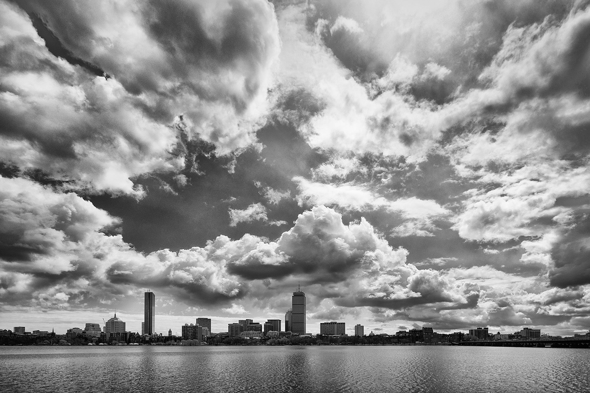 Clouds over Charles River