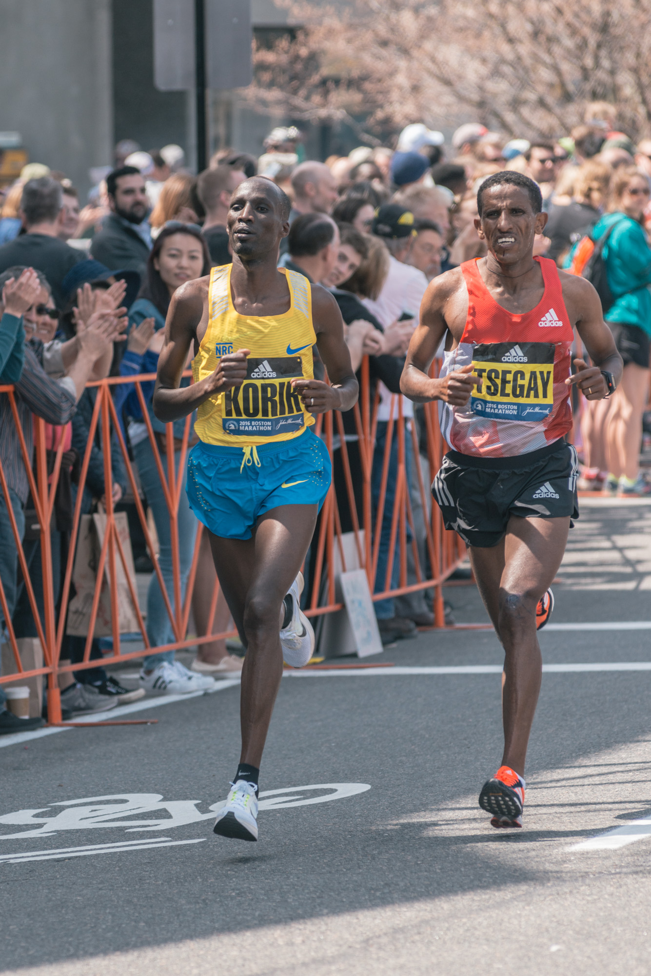 Wesley Korir - 4th place & Yemane Adhane Tseg -3rd place