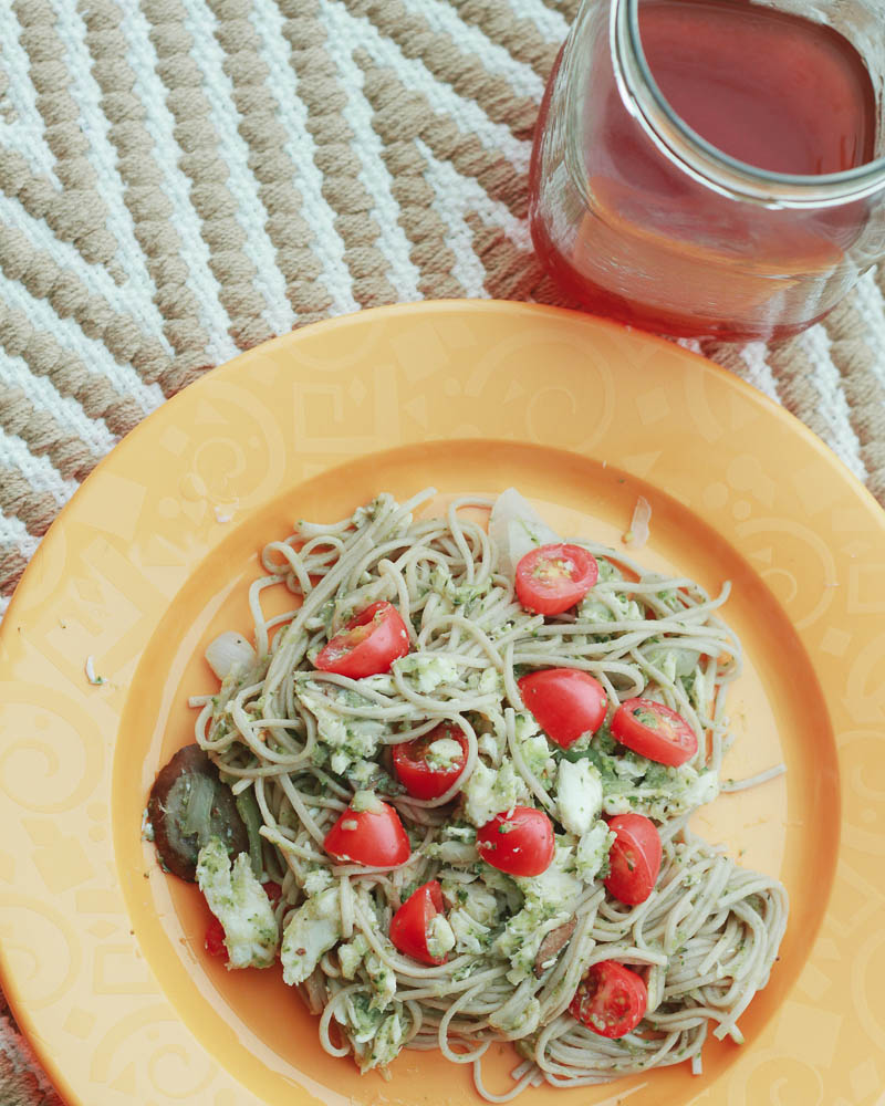 Soba Noodles with Steamed Fish and Veggies Recipe | Mallorie Owens