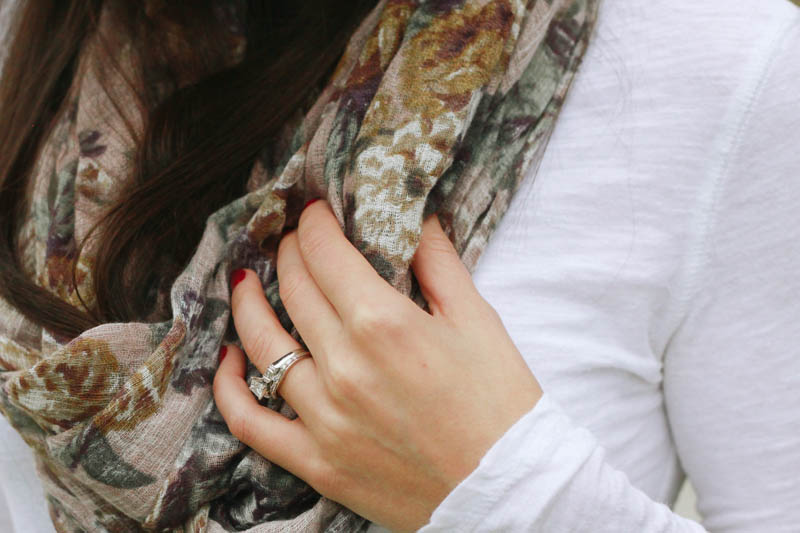 Floral Infinity Scarf from World Market | Mallorie Owens