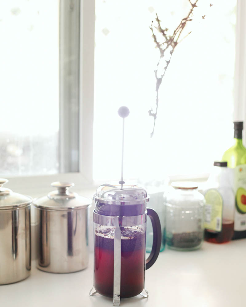 Iced Frenched Pressed Coffee How-to | Mallorie Owens
