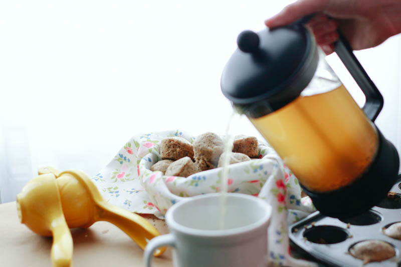 Lemon Poppy Seed Muffins and Green Tea   MALLORIE OWENS