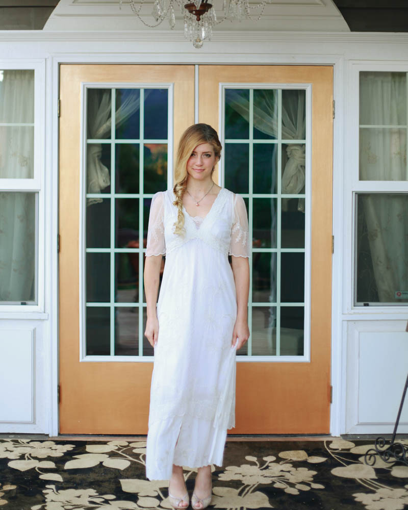 Bridal Portrait at Jorgenson House Bed and Breakfast, Juneau, Alaska | MALLORIE OWENS