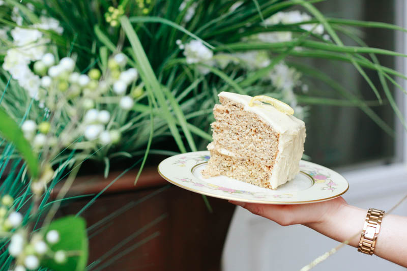 Lemon Poppyseed Wedding Cake with Vegan Buttercream Frosting | MALLORIE OWENS