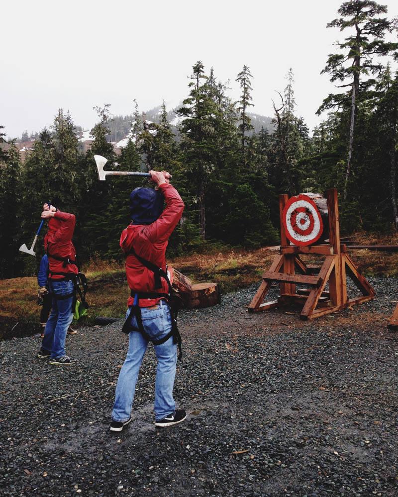 Axe Throwing in Alaska | MALLORIE OWENS