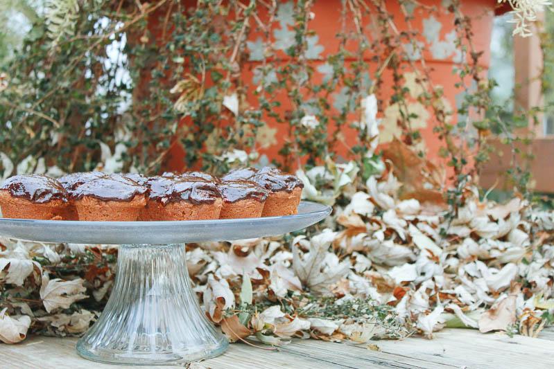 Pumpkin Muffins with Chocolate Peanut Butter Glaze Recipe | MALLORIE OWENS