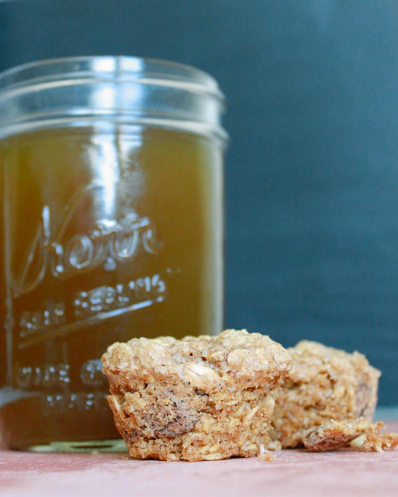 Dark Chocolate Chip Oatmeal Mini Muffins Recipe | MALLORIE OWENS