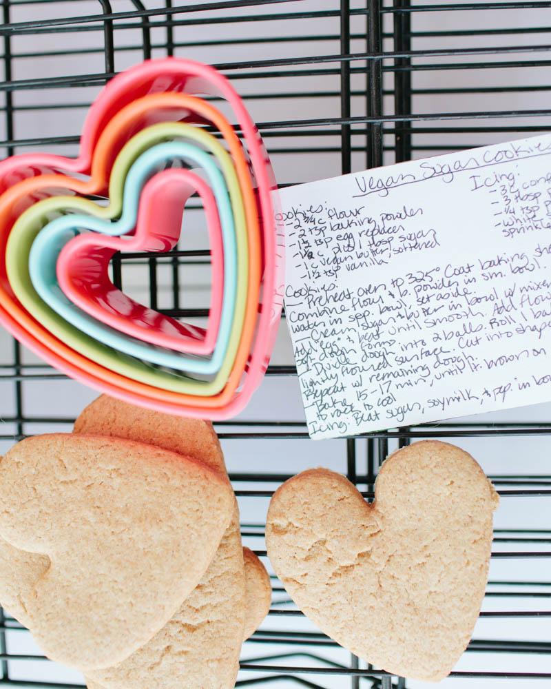 Valentine's Day Vegan Sugar Cookies | MALLORIE OWENS