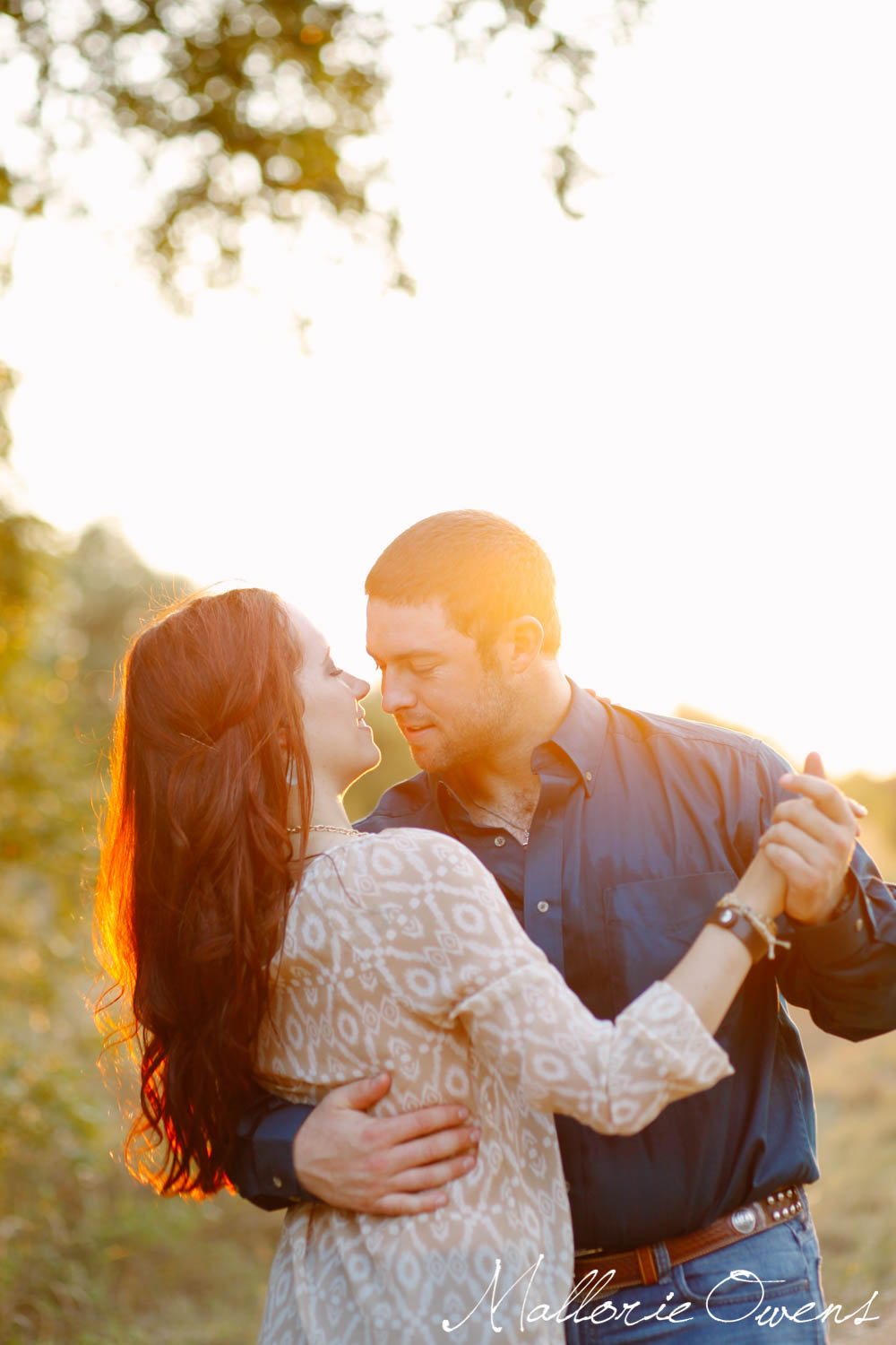 Two-Stepping Engagement Photography   MALLORIE OWENS