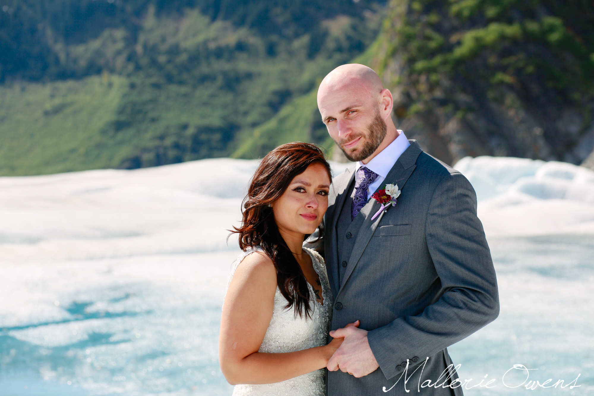 Wedding on Mendenhall Glacier in Juneau, Alaska | MALLORIE OWENS