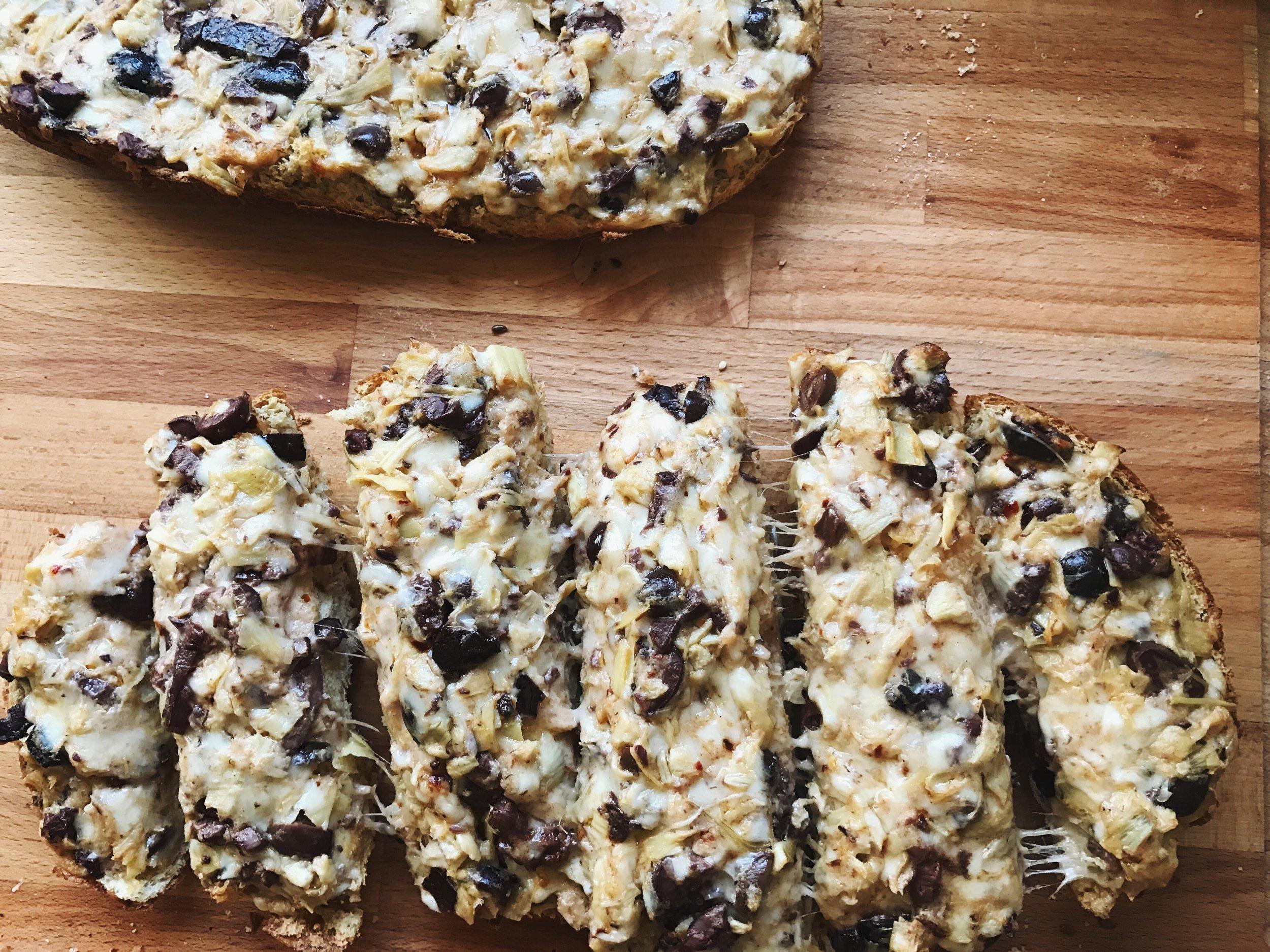 Pioneer Woman Cheesy Olive Bread Mediterranean Style