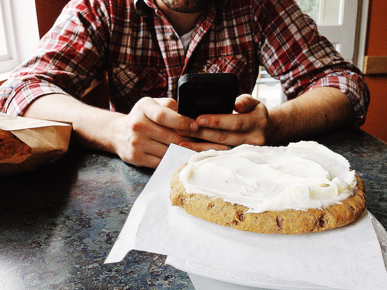 Jumbo Iced Pumpkin Cookie at Mountain Market Cafe in Haines, Alaska   MALLORIE OWENS