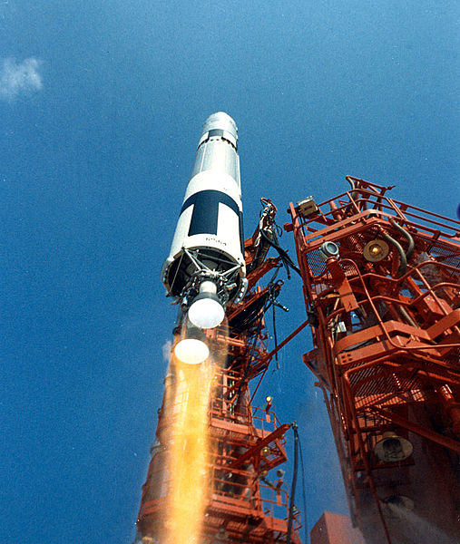 The launch of Gemini 9A.