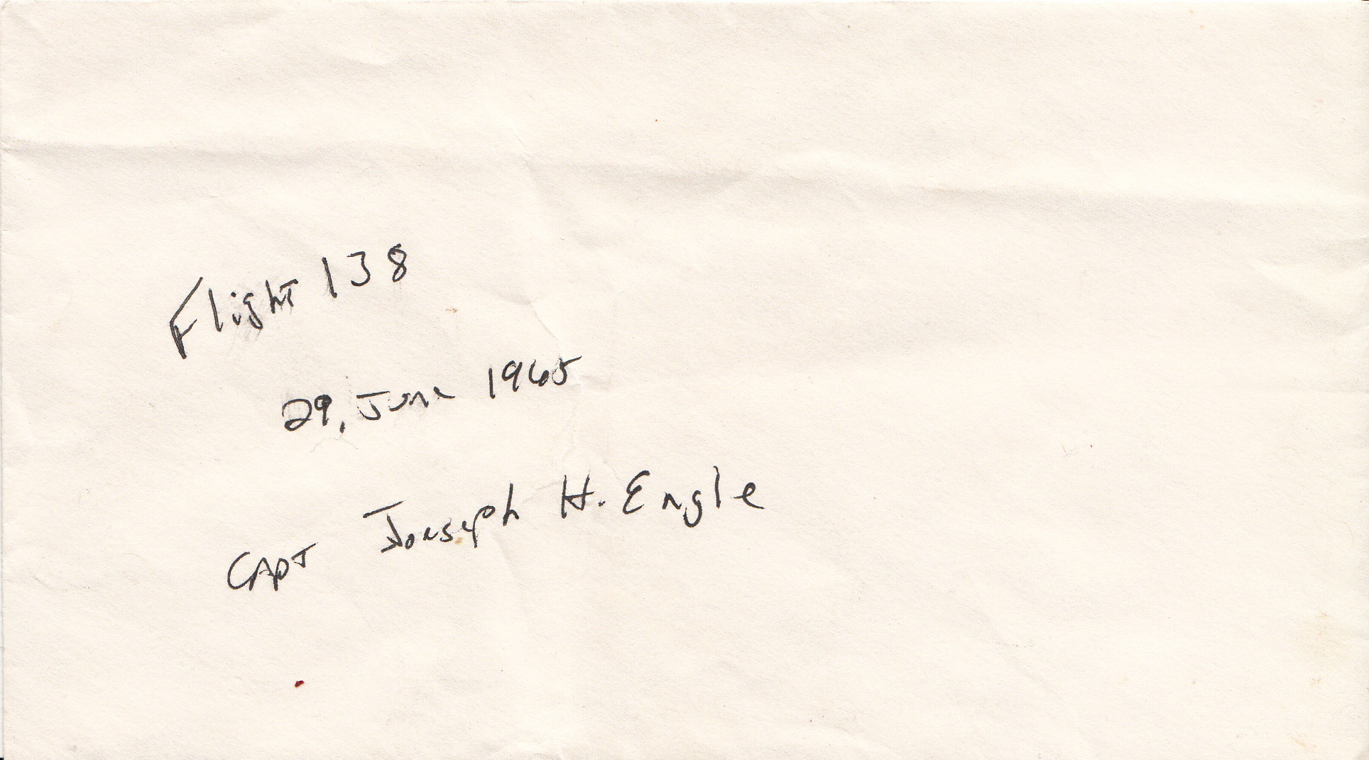 The original envelope this bill was stored in for decades.