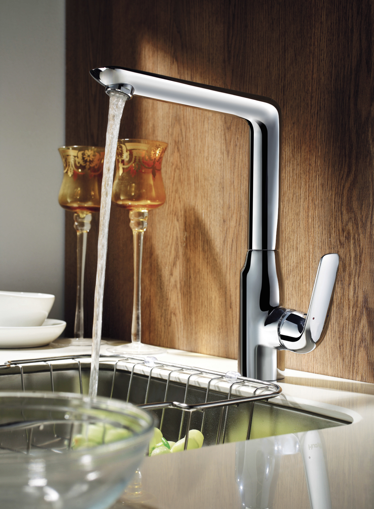 Astini Vendome kitchen taps, available in chrome and brushed steel finish from £279.99 - Available autumn 2014