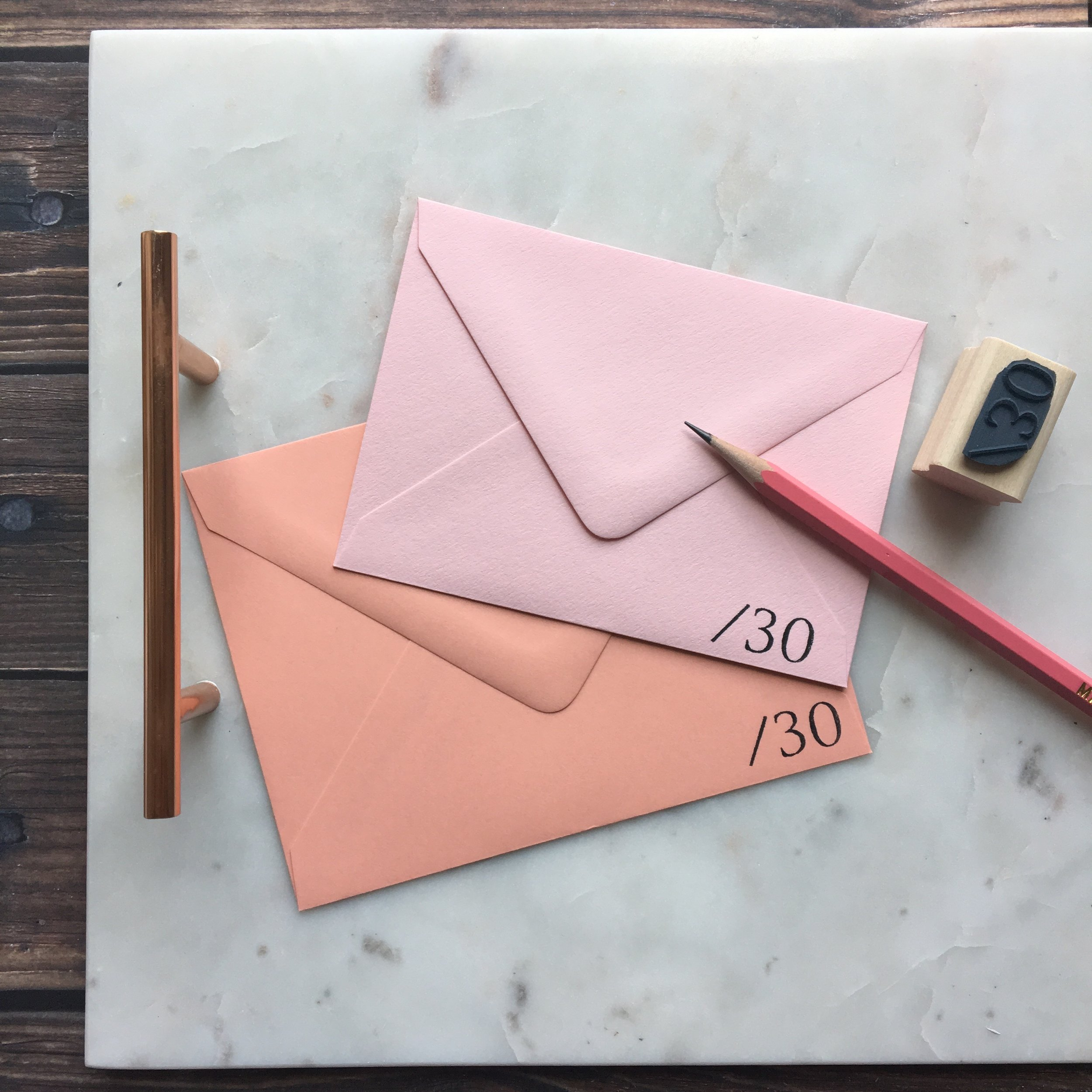 Mail More Love rubber stamp