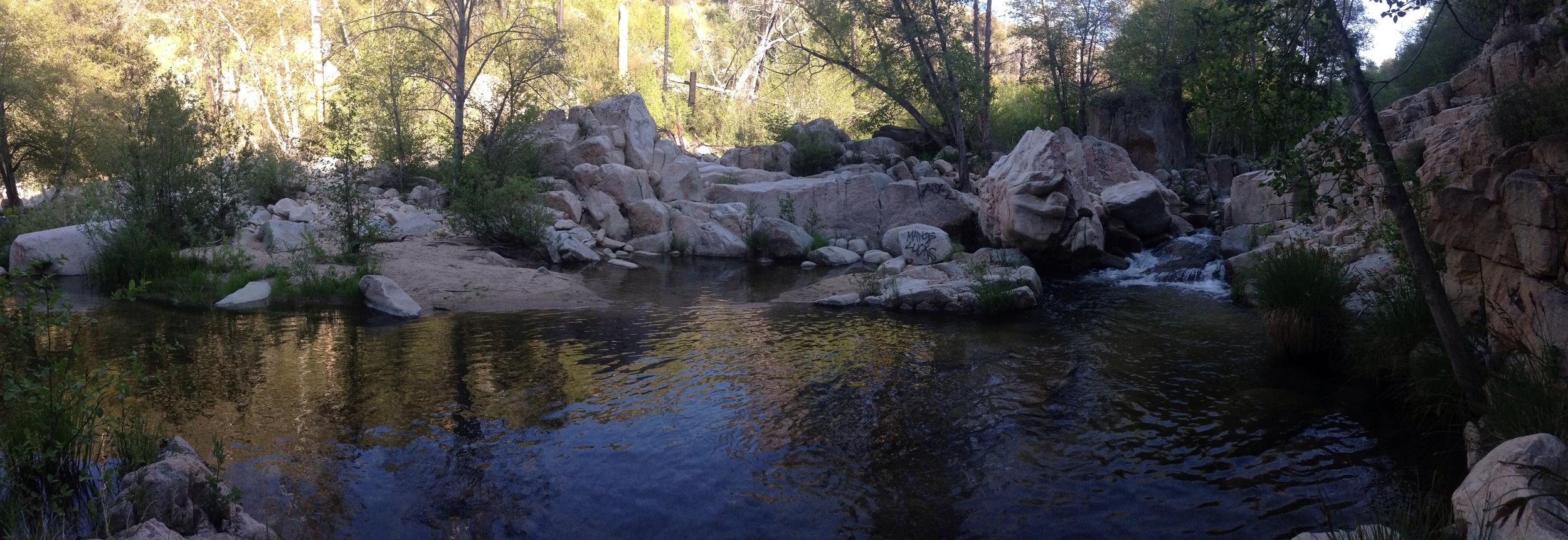 Secret swim spot, well worth a sketchy climb.