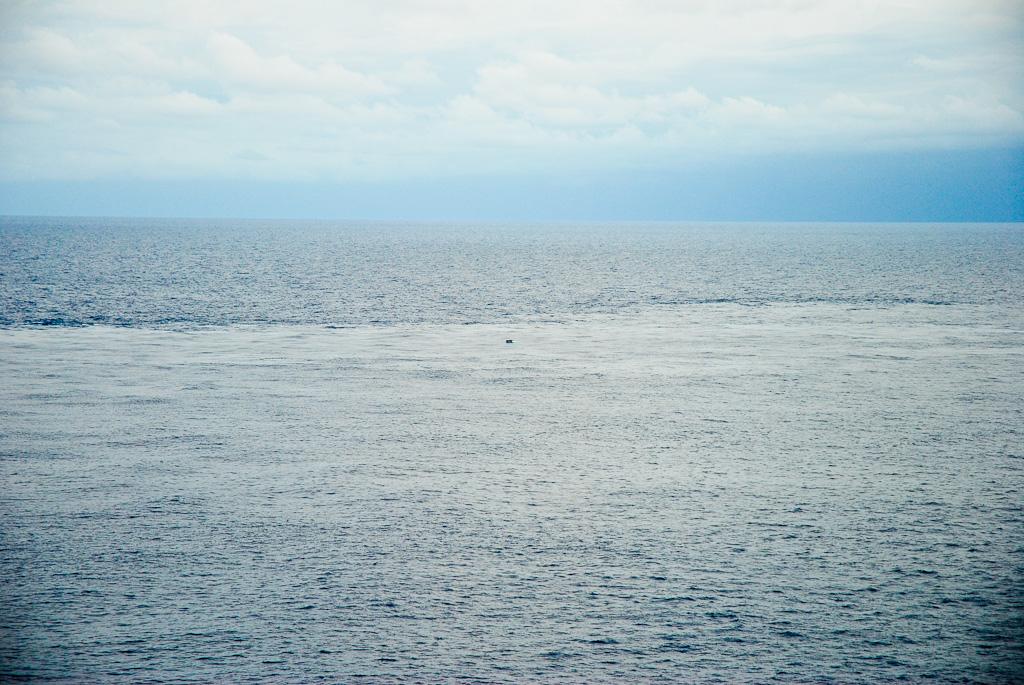 the make-shift raft, left adrift...