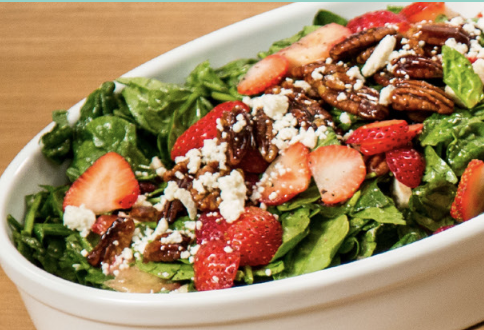 STRAWBERRY SPINACH SALAD - Prep Time: 15 minutesCook Time: 0 minutesTotal Time: 15 minutesYields: 4 servings