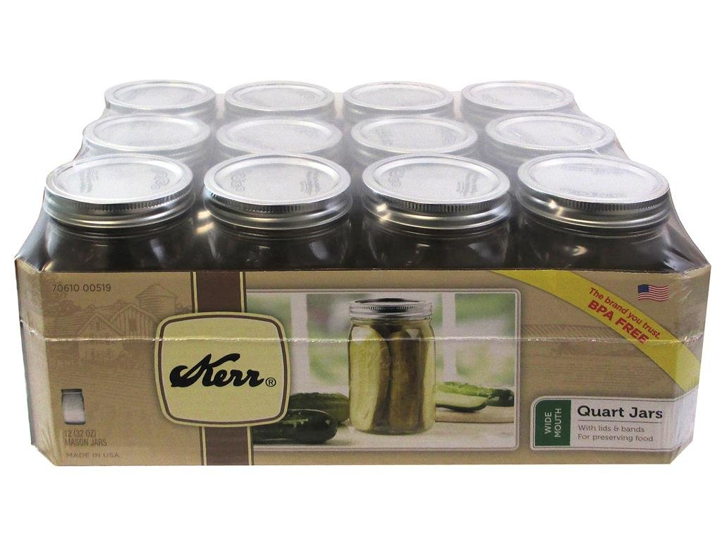 32 oz Wide Mouth Glass Salad Jars