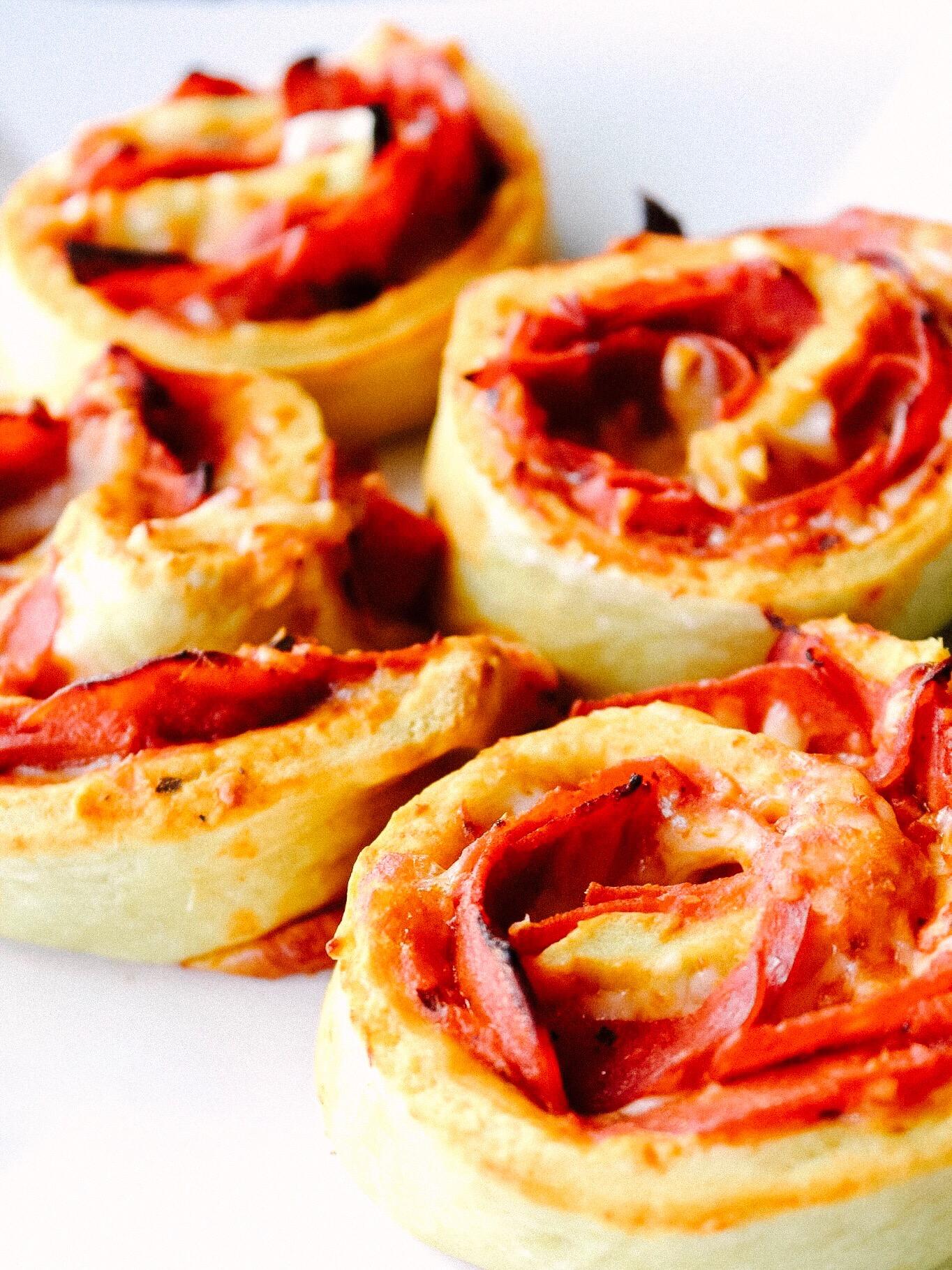 Pepperoni Pizza Pinwheels -