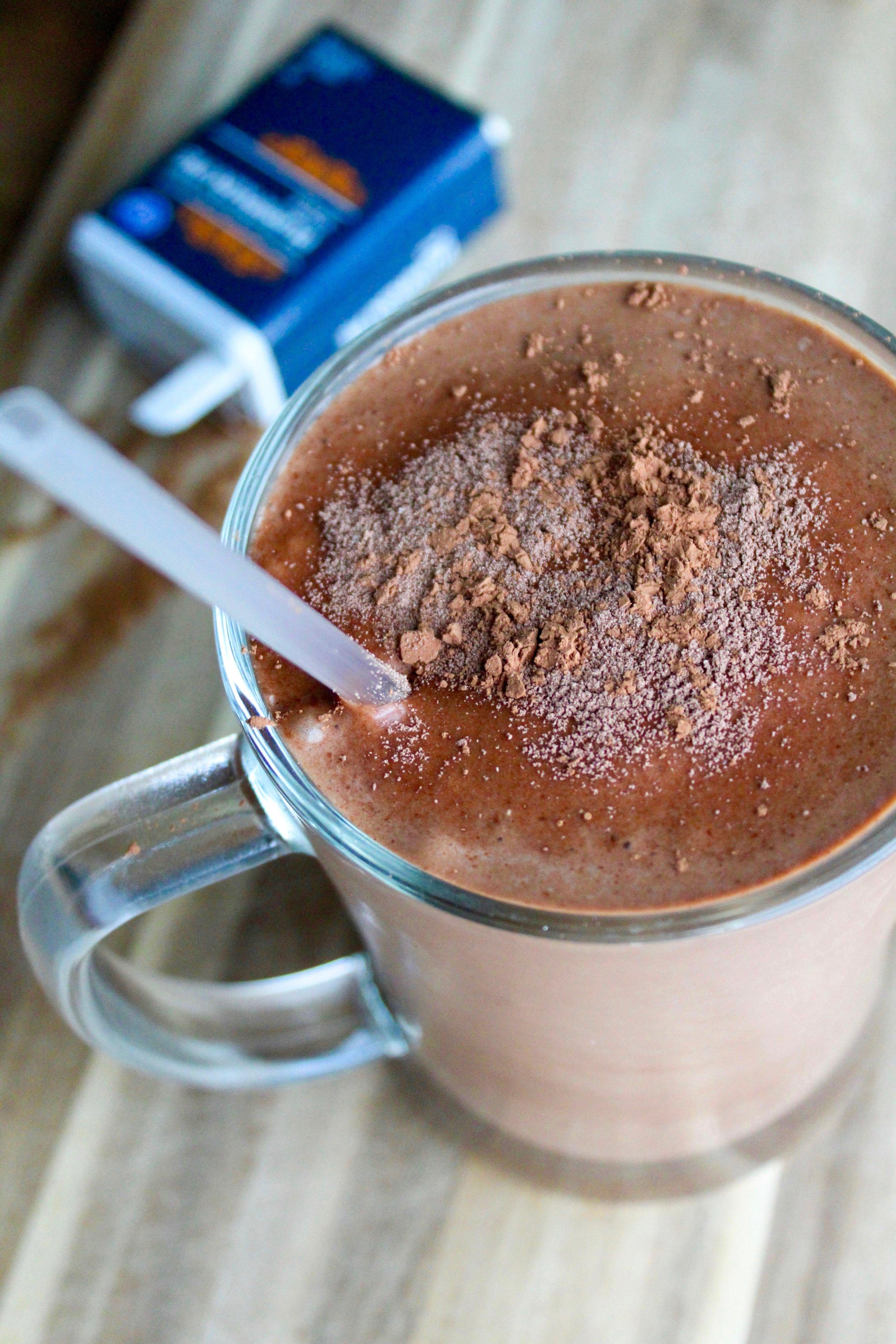 Pumpkin Cocoa Shake - Makes 1 serving350 calories12F / 34C / 26.5P