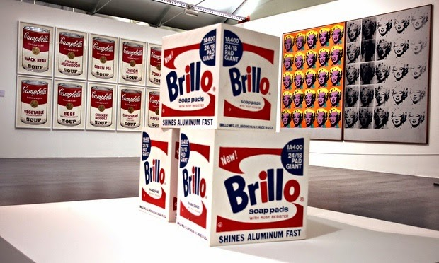 Andy Warhol,  Three Brillo Soap Pad Boxes  (1964)