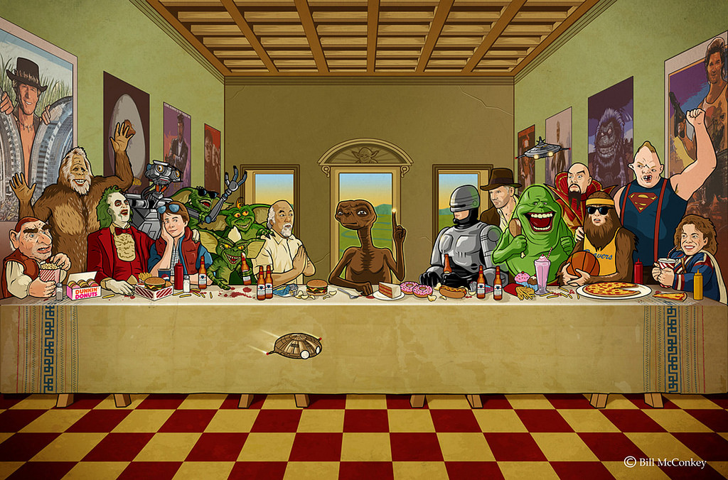 Bill McConkey,  80s Last Supper  (undated)