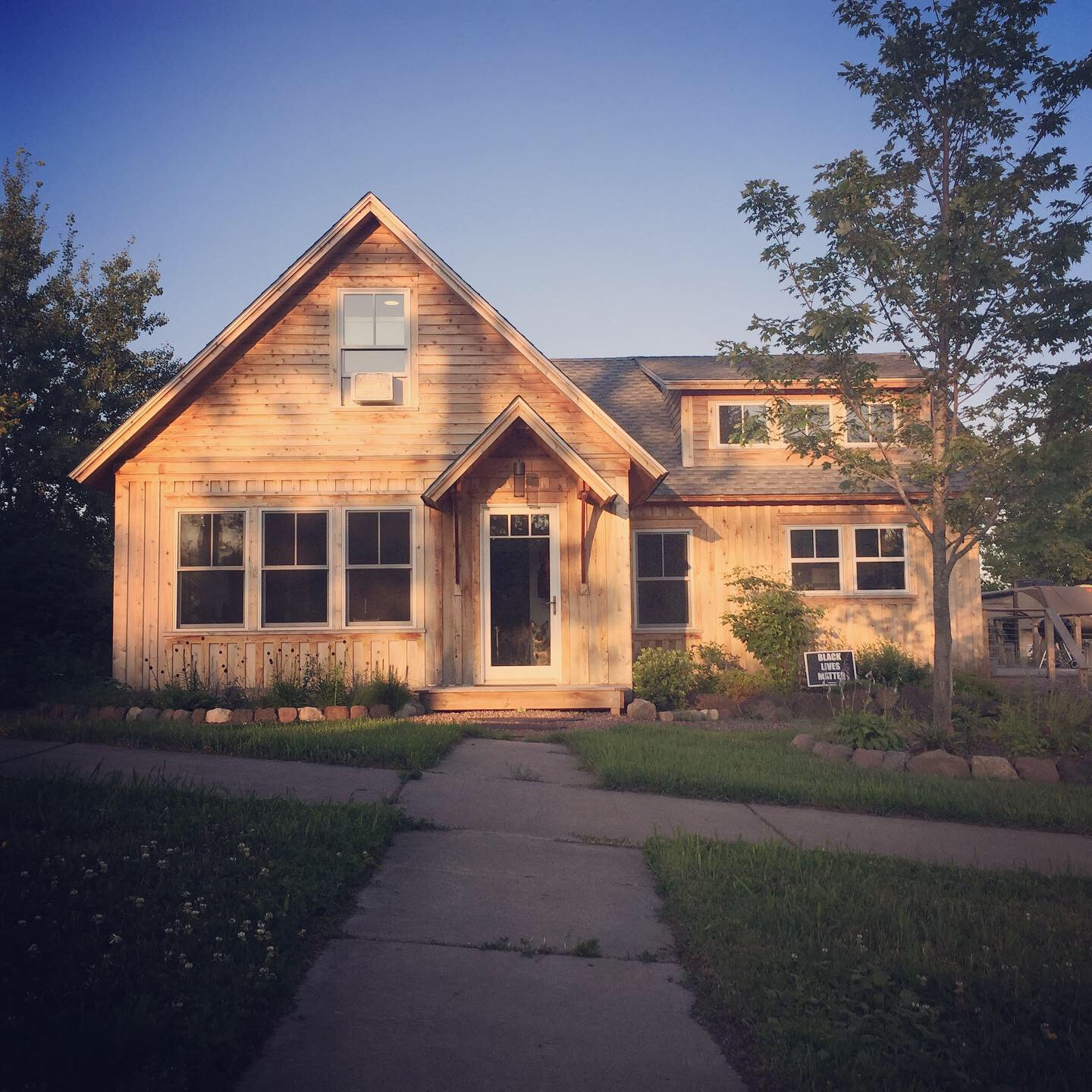 Situated at the corner of 1st Ave W and 4th St, this freshly remodeled home features wonderful views of Lake Superior, the East Bay of Grand Marais, and of the Grand Marais harbor. New Western Red Cedar siding and Marvin Integrity windows and doors throughout.
