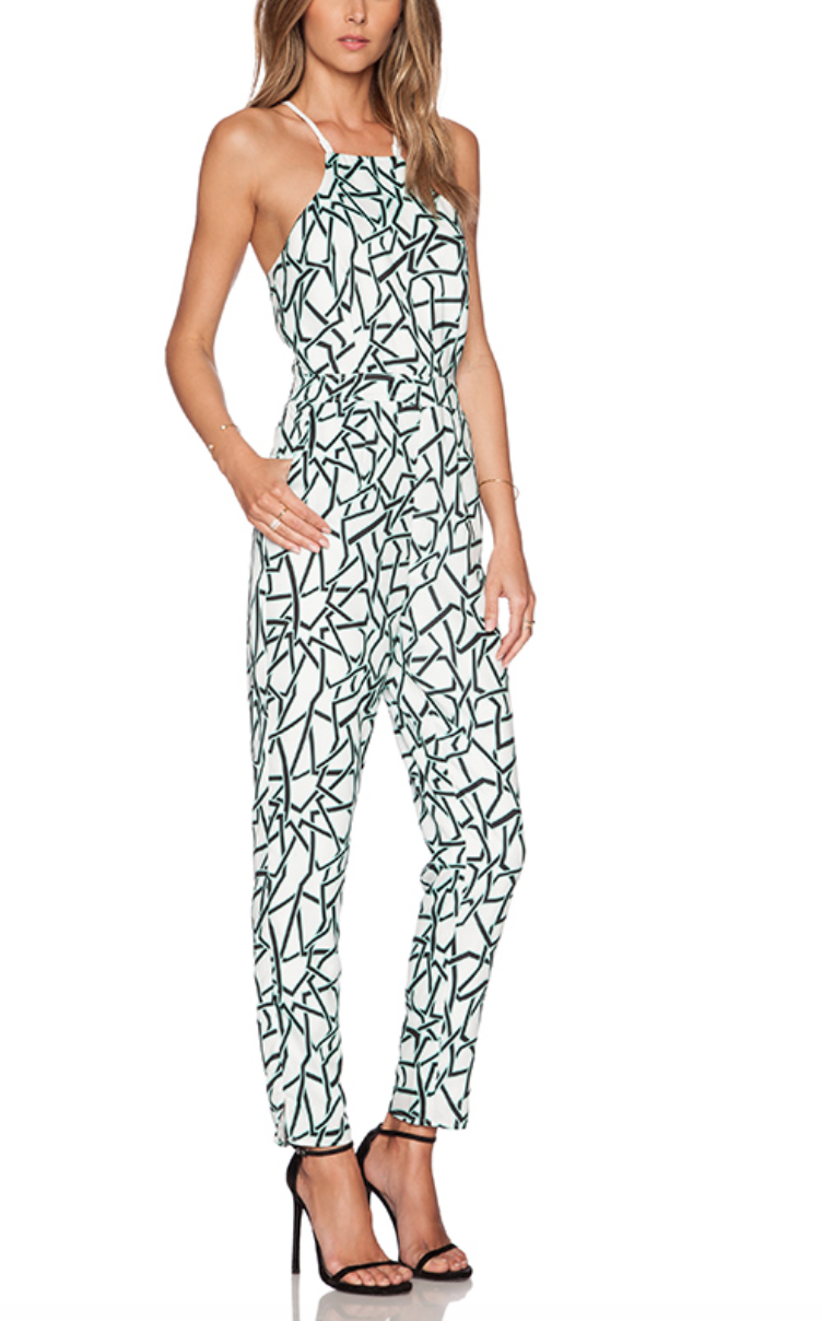 J.O.A. Crossback Print Jumpsuit