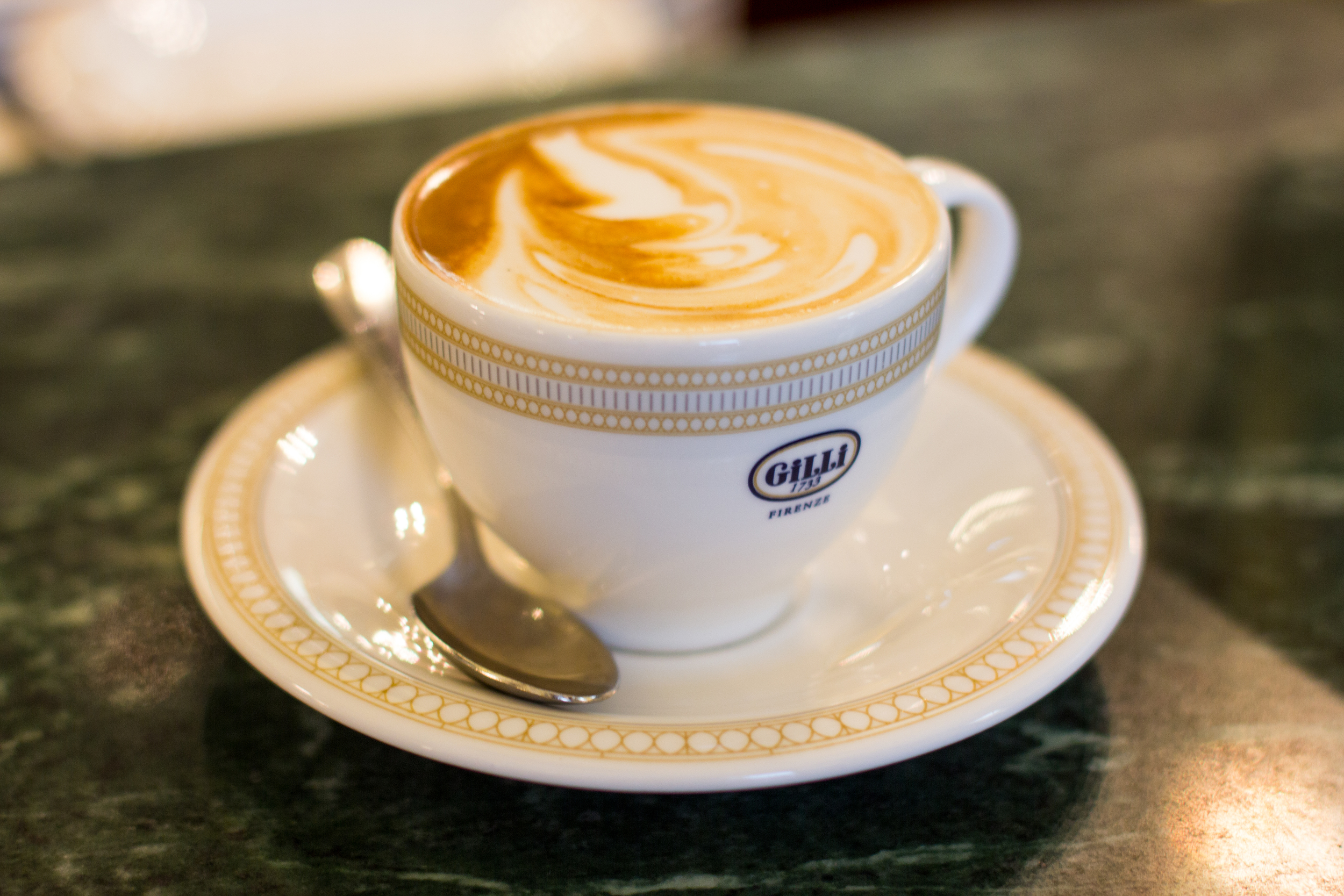 Cappuccinos at Caffè Gilli, the oldest operating cafè in Florence, since 1733 (they've been serving coffee since before America was even America.... Think about that.......)