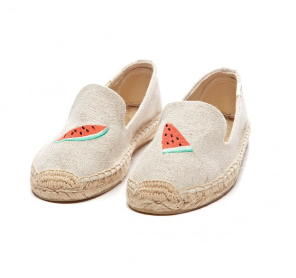 Soludos Watermelon Embroidered Smoking Slipper