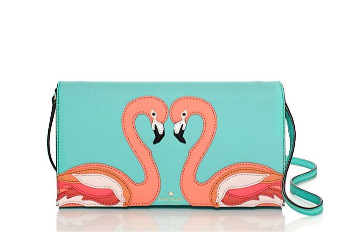 Kate Spade Strut Your Stuff Flamingo Appliqué Cali