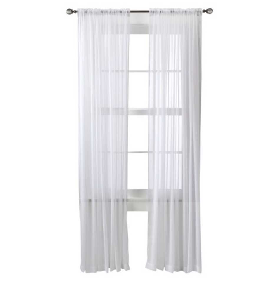 Chiffon Sheer White Curtains