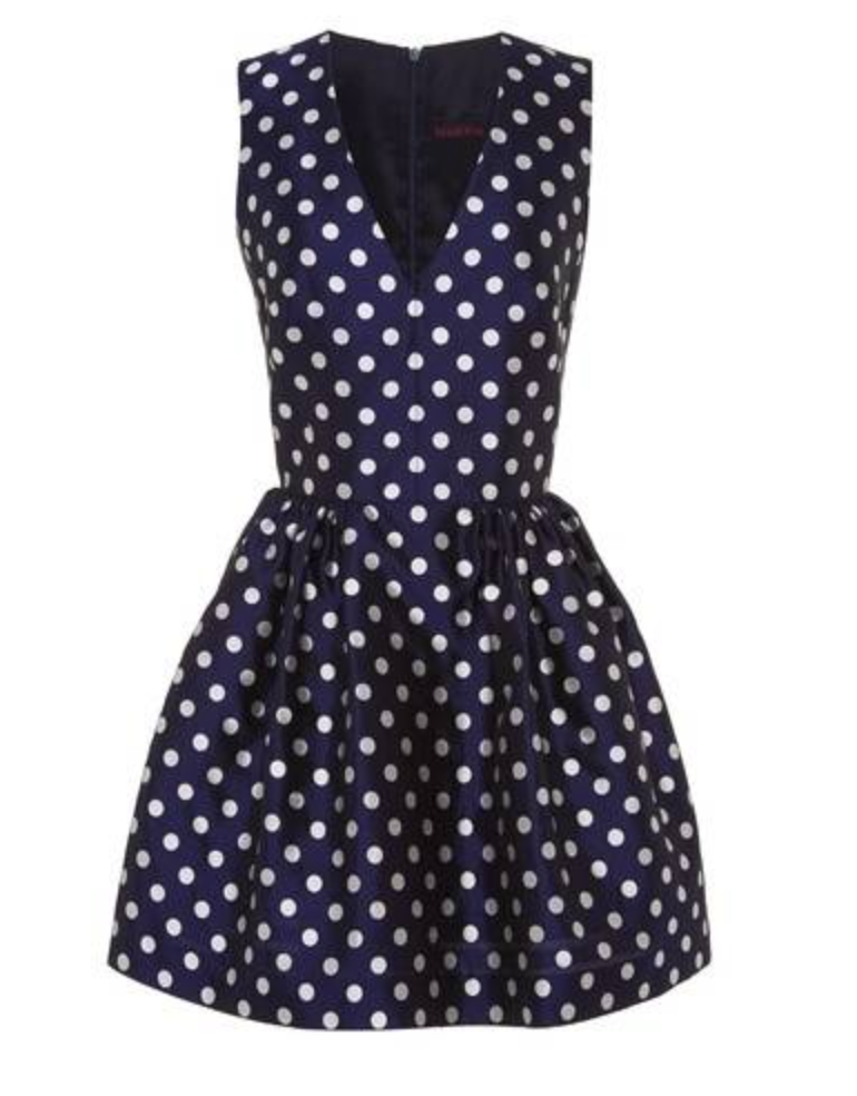 Martin Grant Navy Dotted Dress