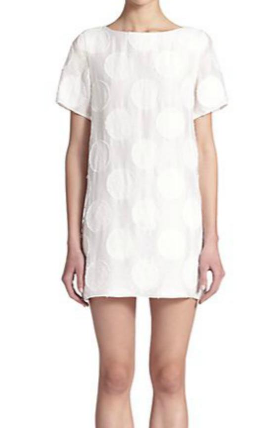 Alice + Olivia Mani Polka Dot Jacquard Dress