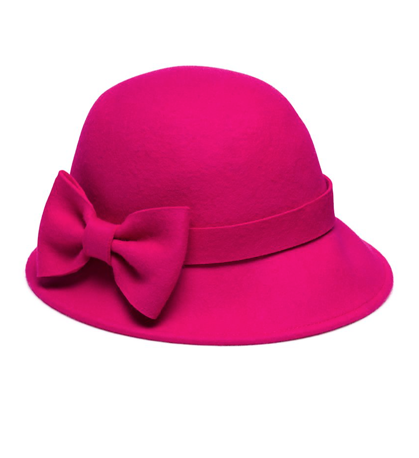 Kate Spade Wool Felt Cloche with Bow