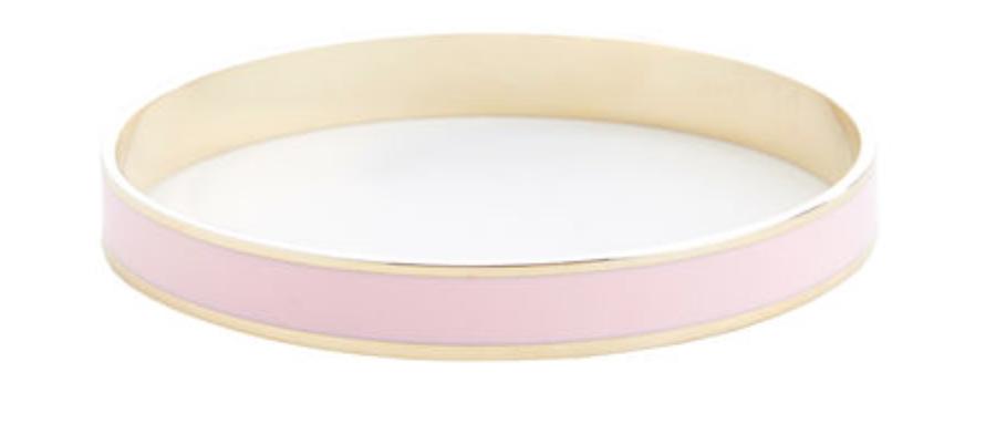 Pink Enamel Cuff Bracelet