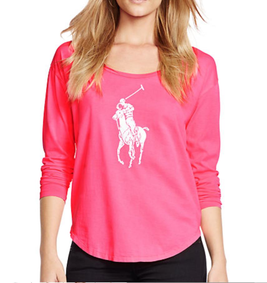 Pink Pony Long-Sleeved Tee