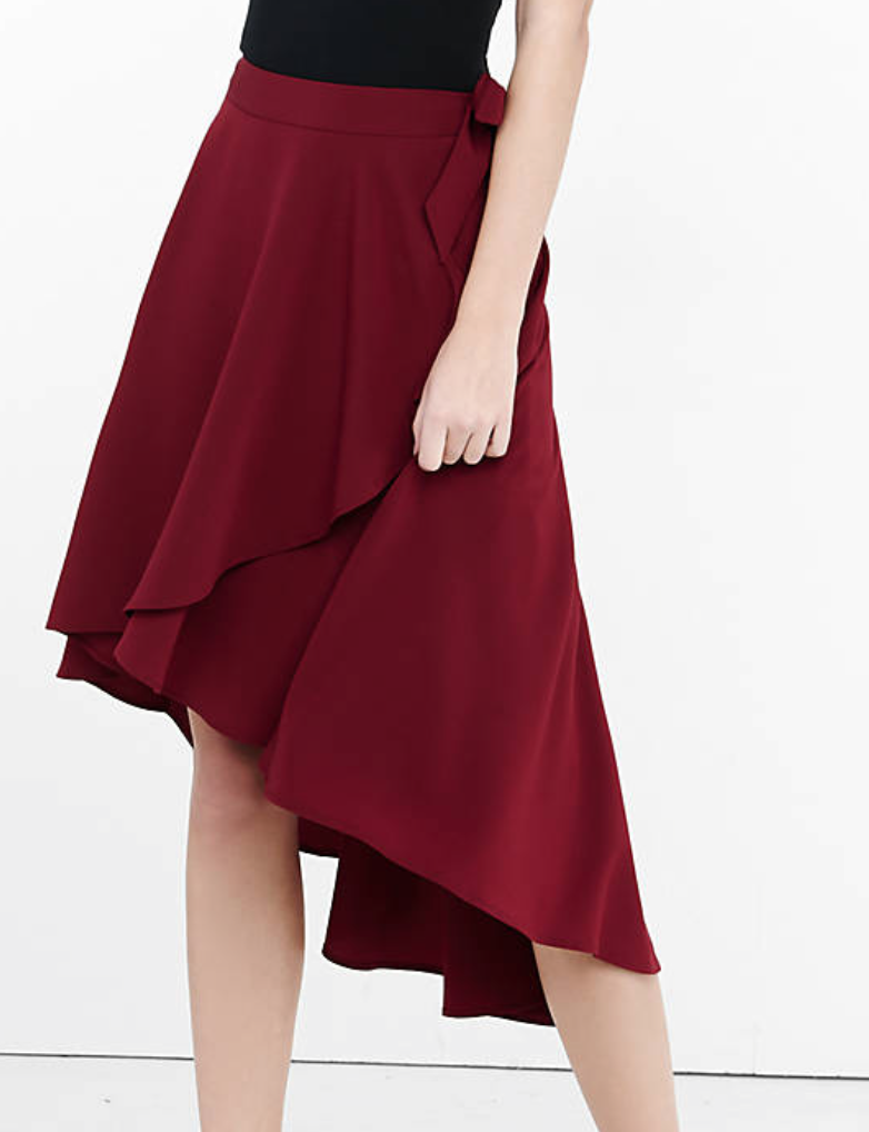This great asymmetrical ruffle skirt from Express would make a unique addition to any wardrobe!
