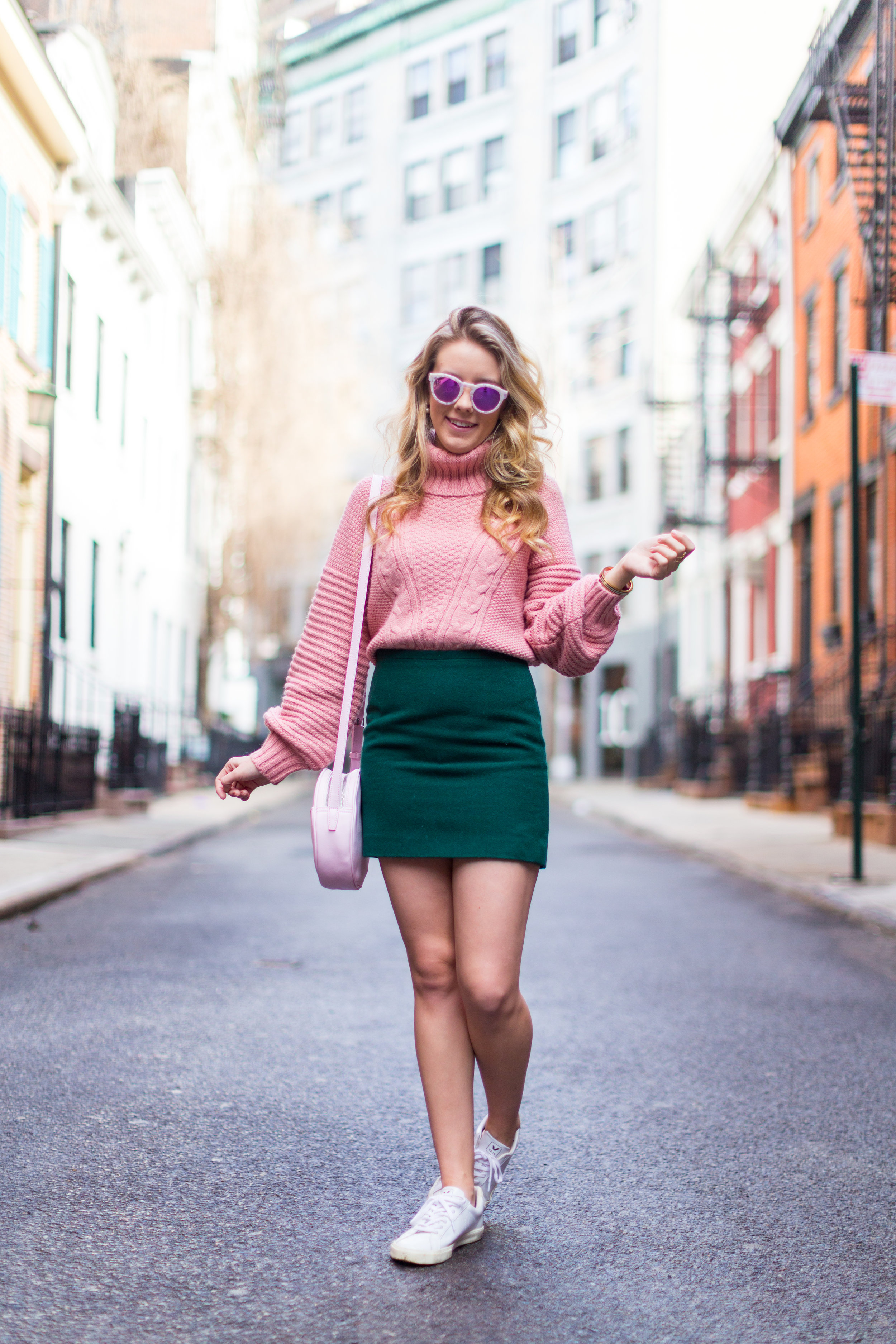West Village Pink and Green Spring Outfit-4.jpg