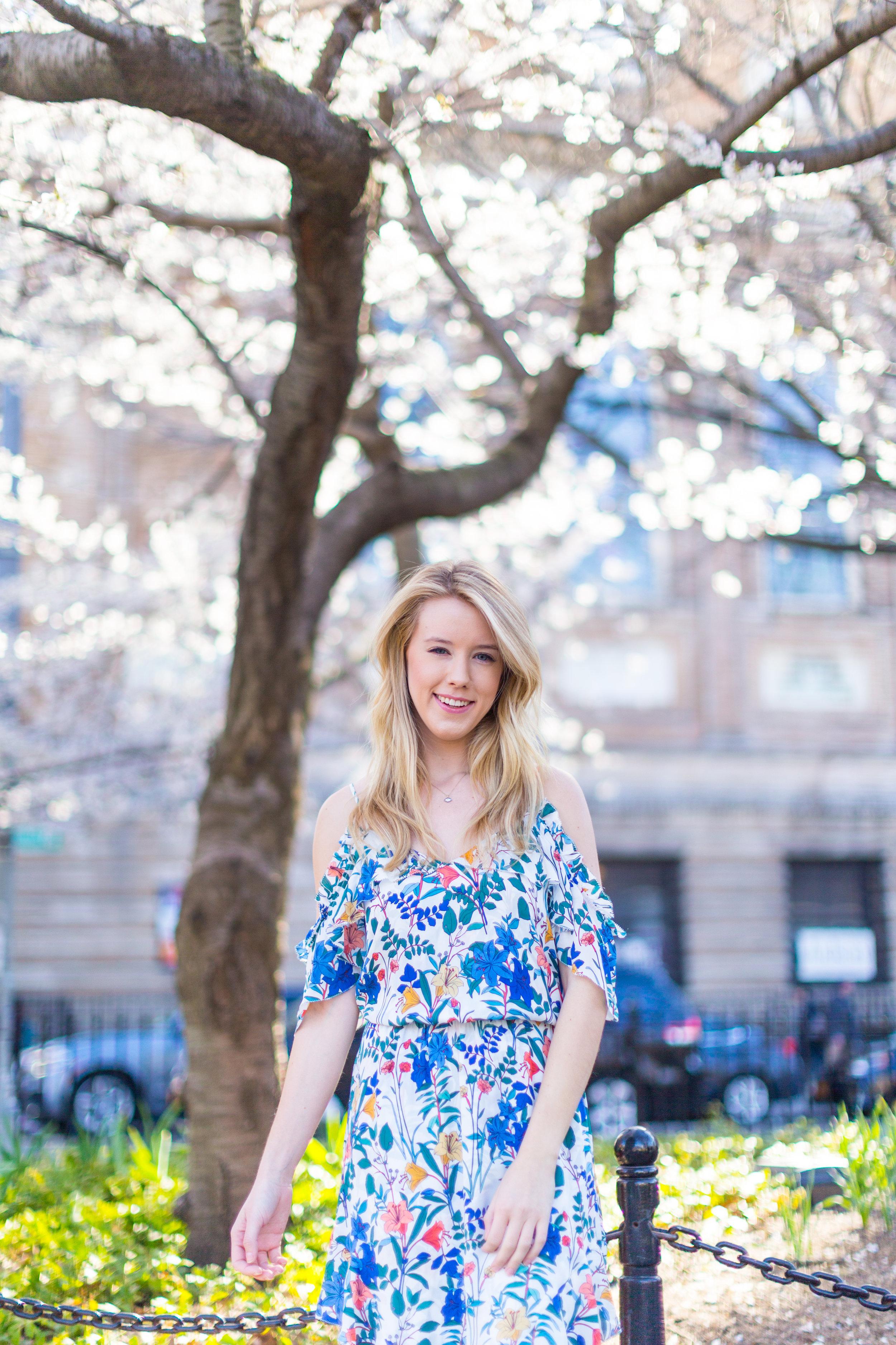 Ruffle Spring Floral Dress Washington Square Park NYC-2.jpg