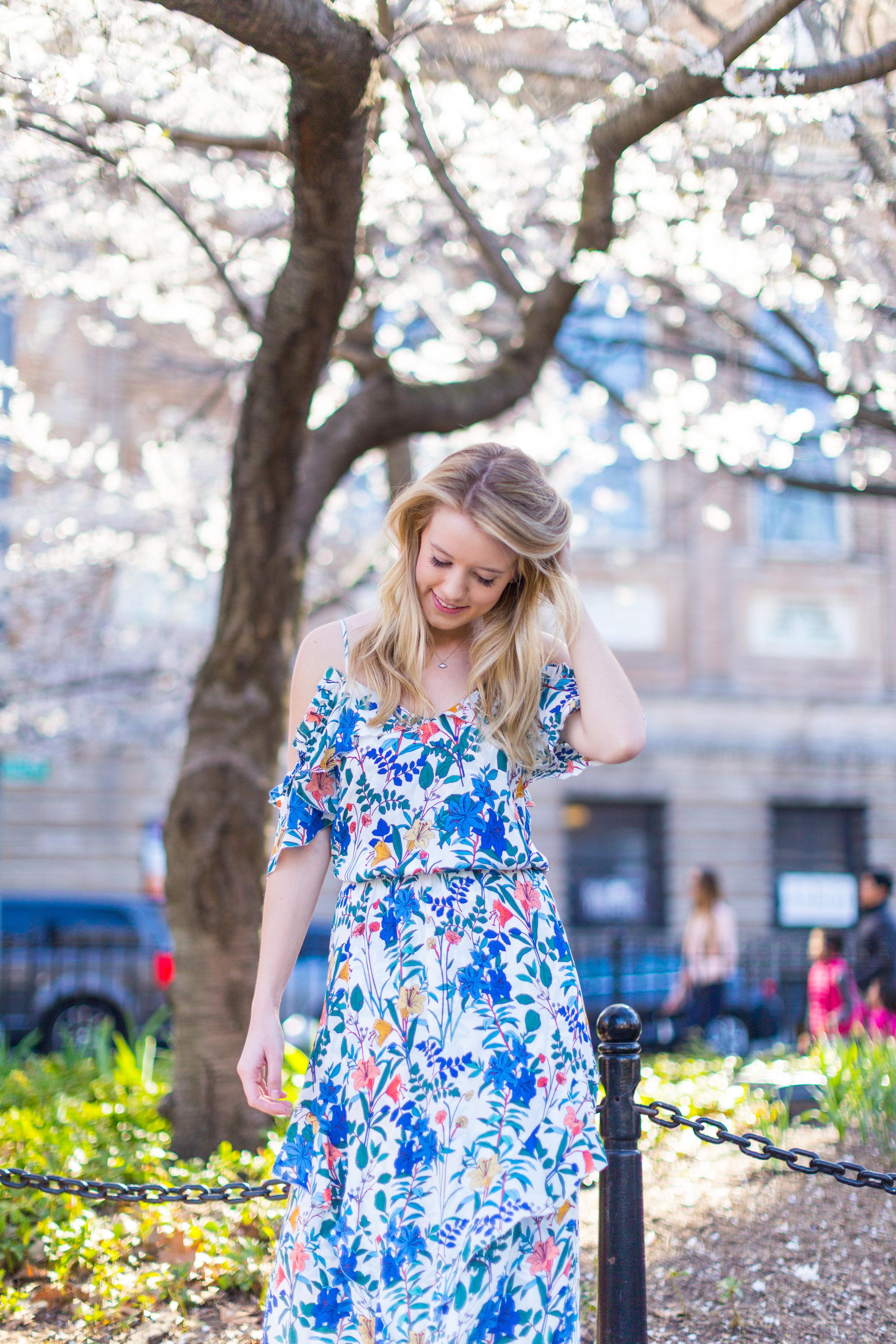 Ruffle Spring Floral Dress Washington Square Park NYC-3.jpg
