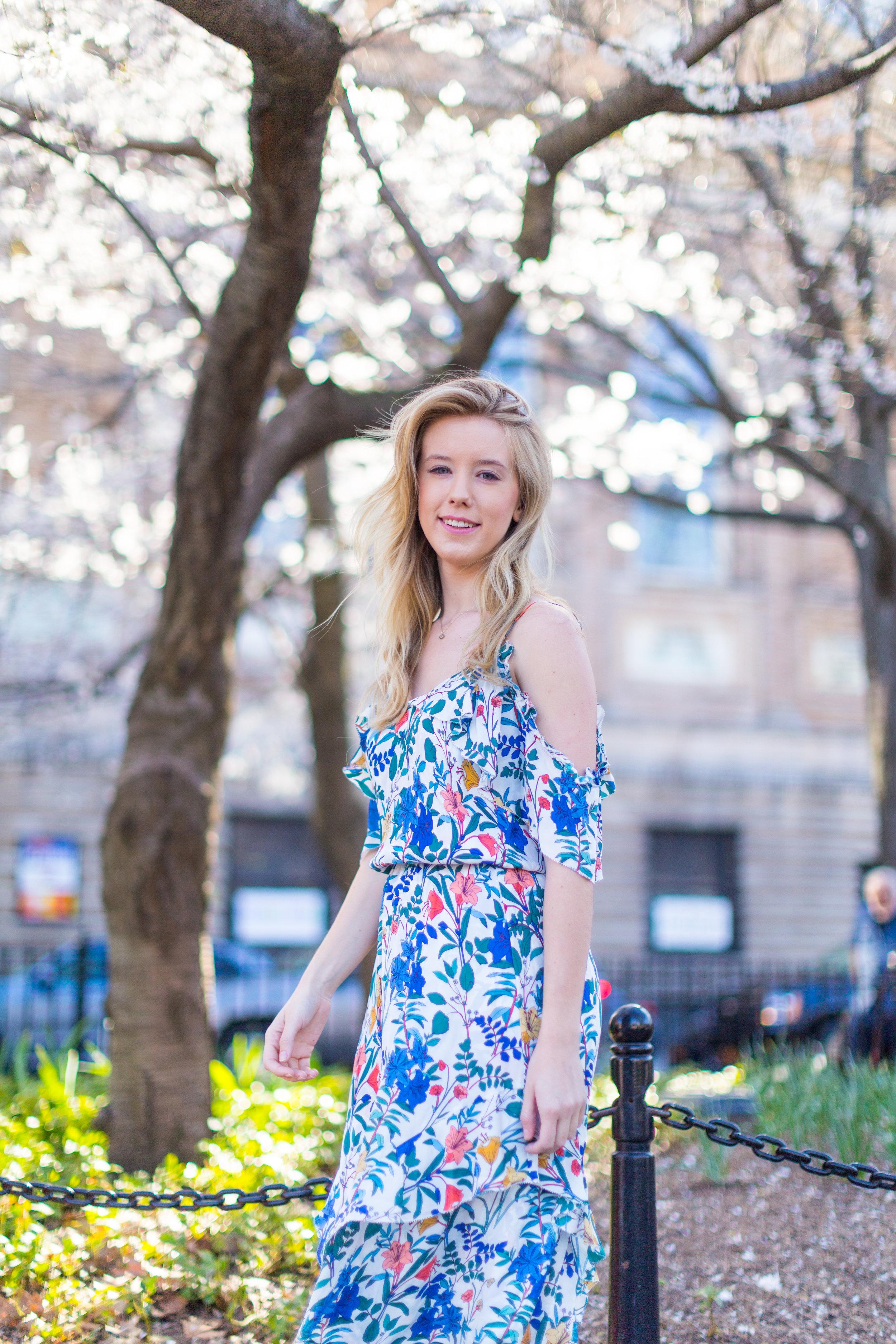 Ruffle Spring Floral Dress Washington Square Park NYC-5.jpg